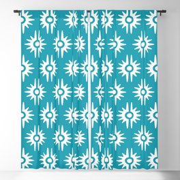 Mid Century Modern Bang Pattern 271 Turquoise Blackout Curtain