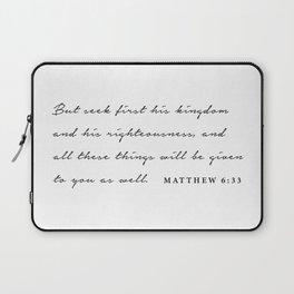Matthew 6:33 Laptop Sleeve