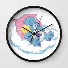 Sleeping lovebear Wall Clock