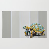 tortoise Area & Throw Rugs featuring Tortoise by aceta