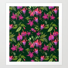 April blooms(Fuchsia)  Art Print