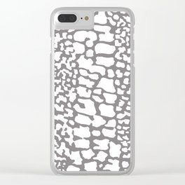 ANIMAL PRINT SNAKE SKIN GRAY AND WHITE PATTERN Clear iPhone Case