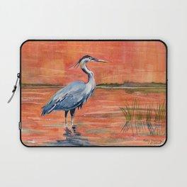 Great Blue Heron in Marsh Laptop Sleeve