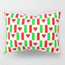 Flag of Italy with heart - Italy,Italia,Italian,Latine,Roma,venezia,venice,mediterreanean,Genoa,fire Pillow Sham