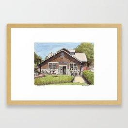 UC Davis Bke Barn Framed Art Print