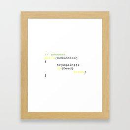 Algorithm of success Framed Art Print