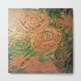 copper roses abstract Metal Print