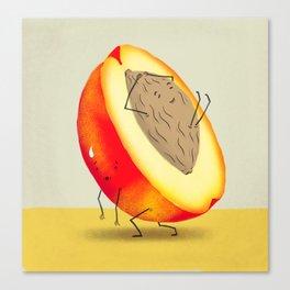 Lazy Peach Pit Canvas Print