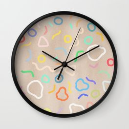 Confetti Party Wall Clock