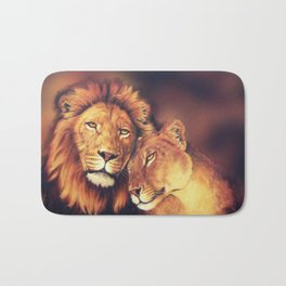 Lions Soulmates Bath Mat