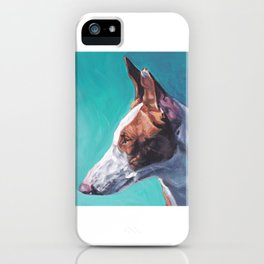 Ibizan Hound dog art portrait from an original painting by L.A.Shepard iPhone Case