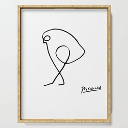 Pablo Picasso The Sparrow (Bird of Prey) T Shirt, Artwork Sketch Reproduction, tshirt, tee, jersey, Serving Tray