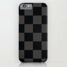 Black & Gray Checkered Pattern iPhone Case