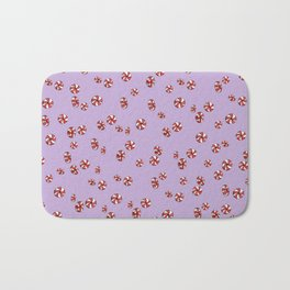 Peppermint Candy in Purple Bath Mat
