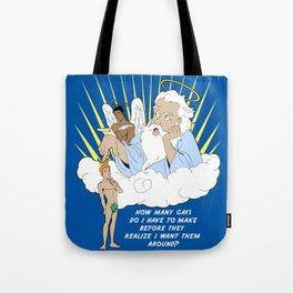 God love gays Tote Bag