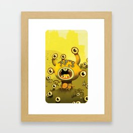 yellow eyes Framed Art Print
