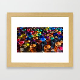 Painting color's Framed Art Print