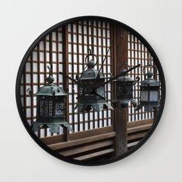 Japanese Lanterns in Nara Wall Clock