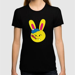 One Tooth Rabbit Emoticons Bunny Face with Thermometer T-shirt