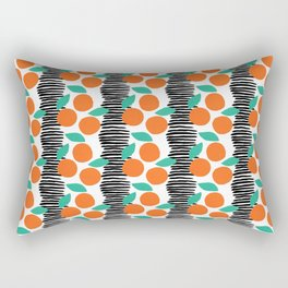 Citrus and Stripes Rectangular Pillow