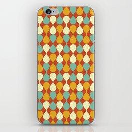Mirrored Raindrops Mid Century Modern iPhone Skin