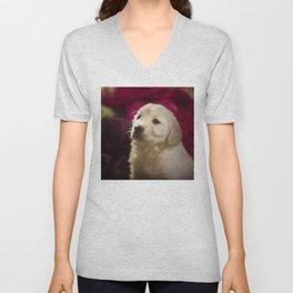 Cute labrador puppy Unisex V-Neck