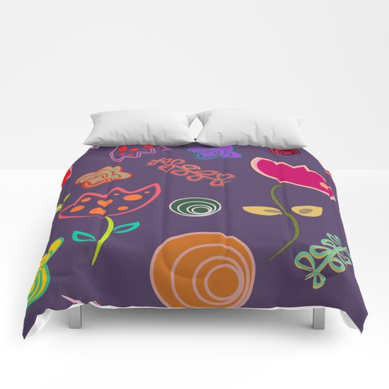 Motif de fleurs 5 Comforters