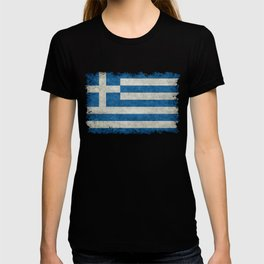 Flag of Greece, vintage retro style T-shirt