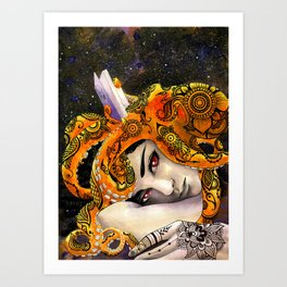 Deep Reading Art Print