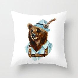 Bear-Varian  Throw Pillow