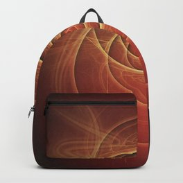 The Rusty Red Fractal Scarab of Fiery Old Man Ra Backpack