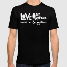 Love One Another X-LARGE Mens Fitted Tee Black