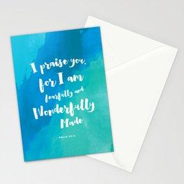 Wonderfully Made - Psalm 139:14 Stationery Cards
