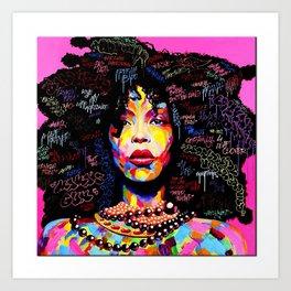 Abstract Modern African Women Art Print