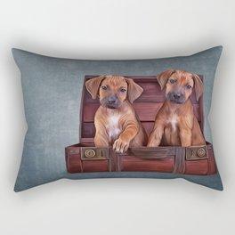 Drawing puppies Rhodesian Ridgeback Rectangular Pillow