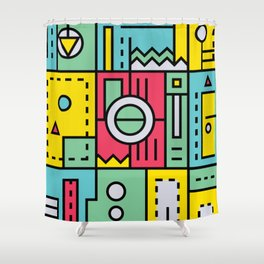 Play on words | Graphic jam Shower Curtain