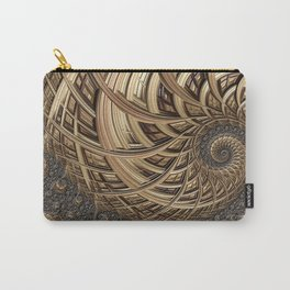 Fractal in Neutrals Carry-All Pouch
