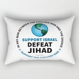 Support Israel, Defeat Jihad Rectangular Pillow