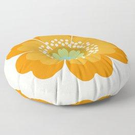 Jivin' - 70's retro throwback art floral flower motif decor hipster Floor Pillow