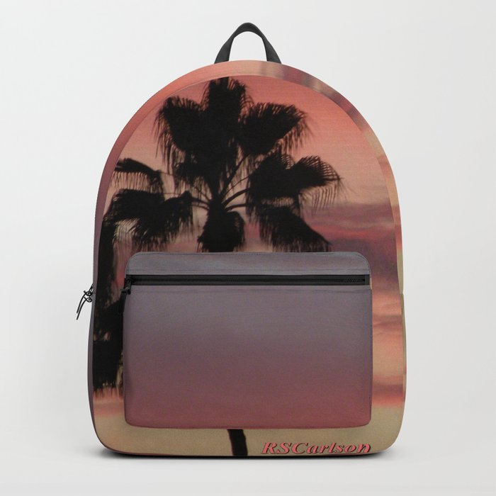 Atmospherics Number 3: Two Palms in the Sunset Backpack