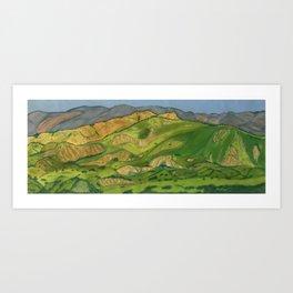 Southern California Hills Art Print