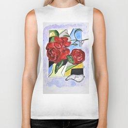 Whimsical Roses Biker Tank