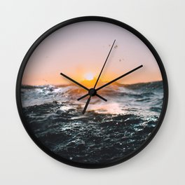 Surf Sunset Wall Clock