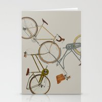 bicycles Stationery Cards featuring bicycles by Golden Boy