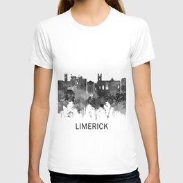 Limerick Ireland Skyline BW T-shirt