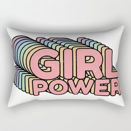 Girl Power grl pwr Retro Rectangular Pillow