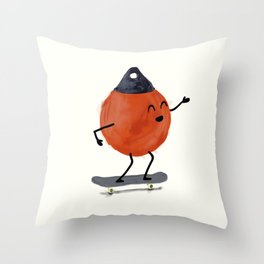 Skater Buoy Throw Pillow