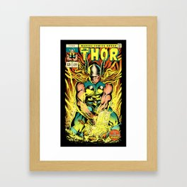Unleash the Lightning! Framed Art Print