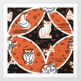 Halloween Pattern 1 Art Print