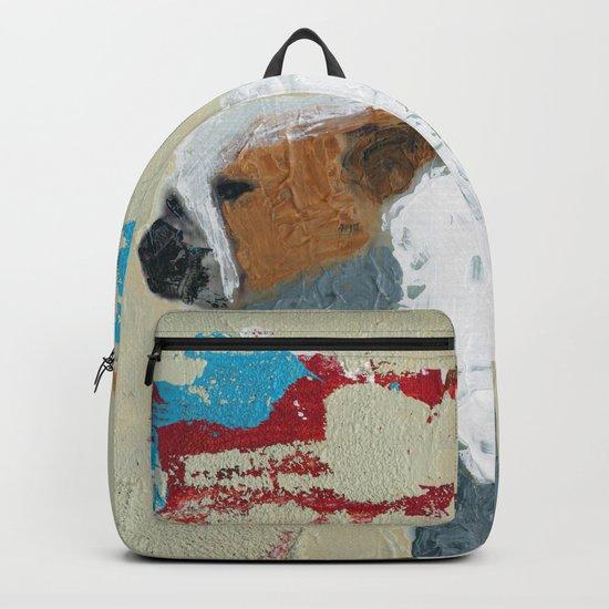 English Bulldog Abstract Art Backpack